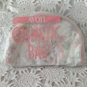 Avon Pink Floral Cosmetic Bag NOS